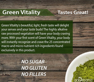 Five Alive Green Vitality is pure, raw vegetation sifted to a small particle size for simple delivery in drink and food...